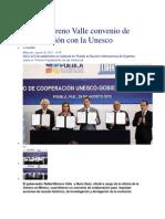 28-08-2013 e consulta - Firma Moreno Valle convenio de colaboración con la Unesco