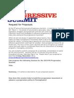 Request for Proposals- PA Progressive Summit 2014
