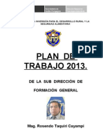 PLAN  sdfg 2013
