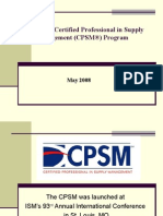 ISM's CPSM®