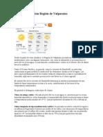 Clima y vegetación Región de Valparaíso