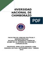Sílabo ING. COMERCIAL lenguaje y comunicacion