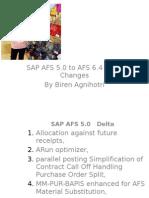 sap afs delta changes