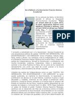 Carta de Êtômbâ â Ndôwé a la Asociación Francia-Guinea Ecuatorial
