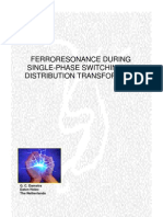 Ferroresonance During Single-phase Switching of Distribution Transformers