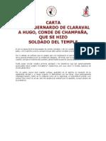 Carta de San Bernardo de Claraval a Hugo (Templarios)