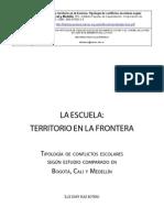 Libro La Escuela Territorio en La Frontera