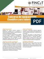 Concurso Equipamiento Científico para Laboratorios - Fincyt