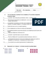 PRUEBA DE ED. mat, 4°, multiplic y divis fila A