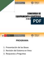 Presentación informativa del Concurso de Equipamiento Científico para Laboratorios