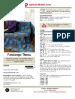 Fandango Throw Crochet Pattern