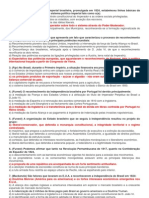 Questões sobre Independência do Brasil e Primeiro Reinado