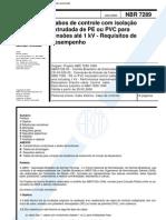 NBR 7289 - 2000 - Cabos de Controle Com Isolacao Extrudada de PEou PVC Para Tensoes Ate 1 kV - Requisitos de Desempenho