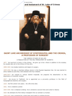 Pantokratoras _ the Last Spiritual Will and Testament of St Luke of Simferopol and Crimea