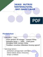 Indikasi Nutrisi Parenteral Total