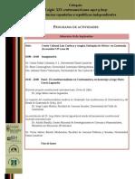 Programa Coloquio El Siglo XIX Centroamericano Ayer y Hoy 18-20 Septiembre