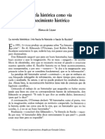 Lizaur, Blanca de - La Novela Historica Como via de Conocimiento Historico