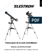 Celestron AstroMaster Telescopes, Models 21062, 31035, 31042. Spanish