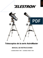 Celestron AstroMaster Telescopes, Models 21064, 31045. Spanish