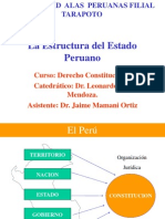Diapositiva de La Estructura de Los Poderes Del Estado[1]