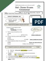 Grammar Exam Aspire Intermediate Unit 5 e8 Key Answers