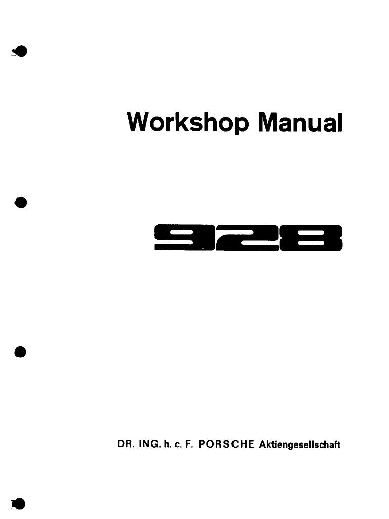 Porsche 928 Factory Manual