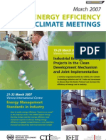 Industrial Energy Efficiency and Climate Meetings