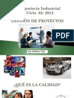 17. Clase 17 Gestión de Proyectos  Planificación y control de la calidad
