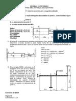 Sistemas Estruturais I - 1o. 2013 - Lista de Exercicios Para a Segunda Avaliacao (2)