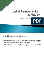 10.5.Reaksi Pembentukan Malaysia