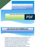 Cálculos  químicos e estequiométricos