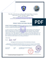 Public Notice of Public Hearing