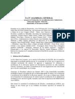 Acta IV Asamblea General
