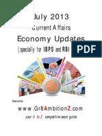 July 2013 Economy Updates - Gr8AmbitionZ