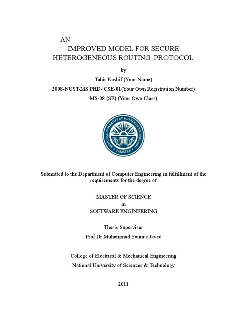 nust ms thesis format