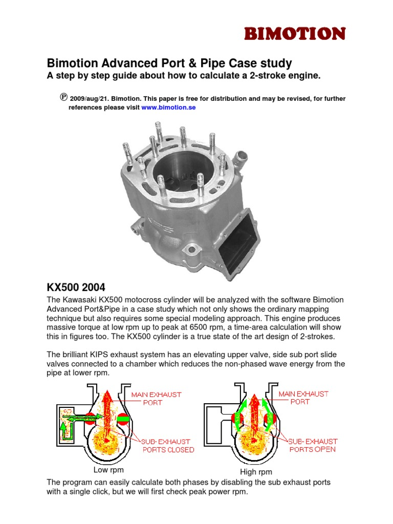 Bimotion 2 Stroke Case Study Horsepower Cylinder Engine