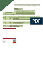 Matriz de Aspectos Ambientales Nauticenter
