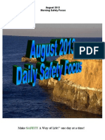 August 2013 Daily Safety Focus