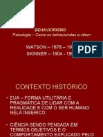 BEHAVIORISMO  -apresentação power point