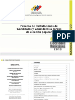 Manual de Postulacion Municipales 2013