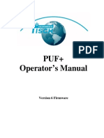 Operator's Manual - PUF Plus V6 Usb