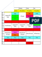 his admin 2c class timetable