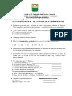 Taller Unidades No 2 3 y 4 Estructura Atc3b3mica Tabla Periodica Nomenclatura Documento No 2 2011 1
