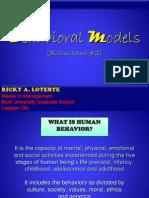 Bahavioral Model_maelm 214
