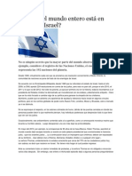 Por qué el mundo entero está en contra de Israel