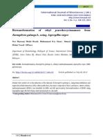 Biotransformation of Ethyl P-methoxycinnamate From