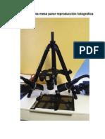 Armado de Una Mesa Parar Reproduccion Fotografica