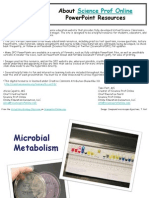 Microbial Metabolism Microbiology Lecture PowerPoint VMC