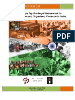 Promoting a Psycho-Legal Framework to Reduce Torture and Organized Violence in India