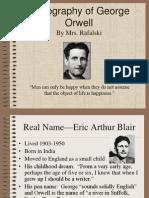 A Biography of George OrwellPPT